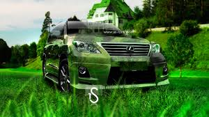 lexus lx570 crystal nature car