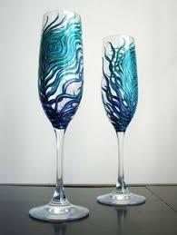 unique champagne flutes. {Detail To Love} Toasting Flutes Unique Champagne