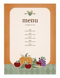 free word menu template get free templates for your fall event flyers invitations and more