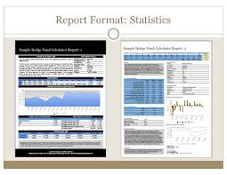 Hedge Fund Tearsheets Created By The Hedge Fund Calculator