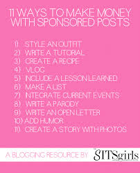 Sponsored Posts 11 Ways To Make Money From The Content You