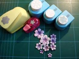 Paper Punches Flower Tutorial On Making Shaping Coloring Flowers Made From Punches
