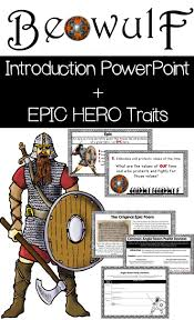 Beowulf Characteristics Of An Epic Hero Chart Characteristics Of An Epic Hero Term Paper Sample