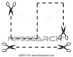 You can learn to cut straight lines in paper, fabric, and wood with several tools you probably already lightly mark with dots or lines where you want your line to start and end. Dotted Line With Scissors Cut On White Backdrop Clip Art K20411119 Fotosearch