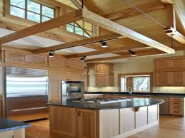 gallery kitchen track lighting vaulted ceiling flatware wall ovens