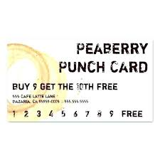 Free Punch Cards Template Printable Punch Reward Card Templates Free Template For