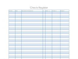 Free Checkbook Register Template Business