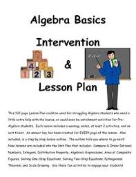 best middle school algebra images math teacher algebra basics intervention unit plan lesson guide middle school