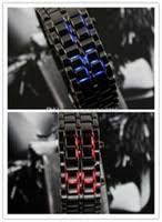 sharp watches prices. 100pcs lot led watch sharp lava style iron samurai metal men\u0027s women\u0027s fashion watches red blue styles price sharp prices r