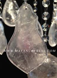 rock crystal leaf chandelier prism