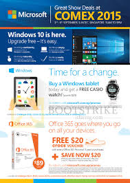 microsoft s comex 2015 price lists flyers promotions deals windows 10 casio watch office 365 20 dollar crocs voucher