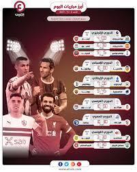 مواعيد مباريات اليوم الأحد 2 مايو 2021 والقنوات الناقلة