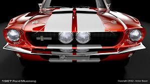 1967 Ford Mustang Front View by abanimation on deviantART ...