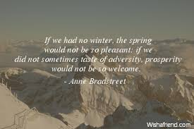 Anne Bradstreet Quotes If You Had No Winter. QuotesGram via Relatably.com