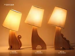 loft modern table lamp wood light led desk light cloth lamp for bedroom office table lamp
