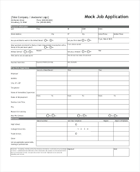 5 Example Of Job Application Form Employment Work Letter Format