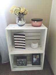 ideas bedside tables pinterest night: one nightstand next to my beddiy crates from michaels