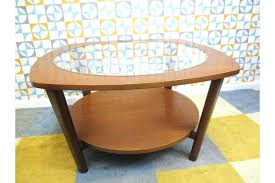 danish glass coffee table coffee table round walnut century modern sculptural bentwood glass top coffee table