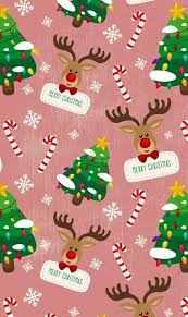 cute christmas tree wallpaper. Wonderful Wallpaper Merry Christmas Reindeer Christmas Trees Wallpaper Intended Cute Tree Wallpaper H