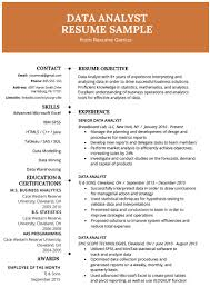 10 Perfect Job Resume Excel Template For Any Positions