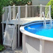 premade pool decks above ground pool vinyl deck kits prefabricated pool decks