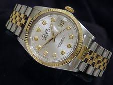 men s rolex watches new used vintage mens rolex datejust 18k yellow gold steel watch silver diamond dial 16013