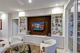 custom built media center cabinets