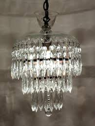 chandeliers 1930s crystal chandelier petite antique three tier with glass prisms a charming small tiered