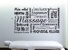 massage wall decal spa decor massage