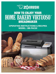 The zojirushi bread machine has a homemade setting which allows you to alter the settings to suit your taste. Zojirushi Home Bakery Virtuoso Bb Pac20 Operating Instructions Recipes Pdf Download Manualslib