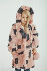 Amazon.com: Pink and gray fur coat for kids Winter coat: Handmade