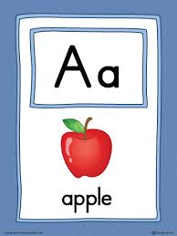 In english and spanish, uppercase and lowercase. Letter A Large Alphabet Picture Card Printable Color Myteachingstation Com