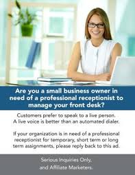 professional front desk receptionist other services florida professional front desk receptionist
