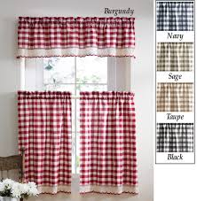 Rooster Kitchen Curtains Red Plaid Kitchen Curtains Cabin Curtains And Plaid Rustic Window