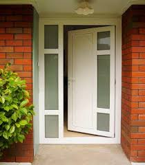 entrance door with in fill panels