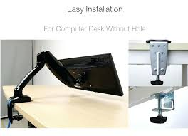 computer desk monitor stand full motion gas spring desk dual monitor mounts fits to computer glass computer desk with monitor stand