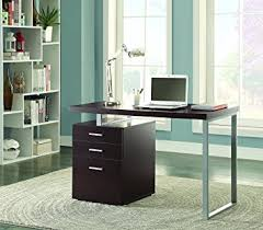 office desk cabinet. coaster home furnishings modern contemporary reversible office desk with file cabinet cappuccino