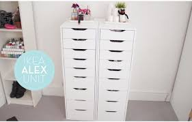 ALEX Drawer Unit with 9 Drawers | 12 Ikea Makeup Storage Ideas You'll Love