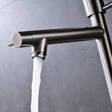kitchen faucet spout extension awesome brushed nickel extension height brass kitchen faucet double spout