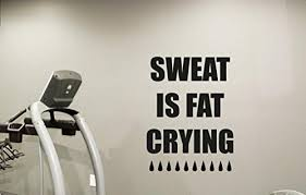 fitness gym wall decal sweat is fat crying motivational fitness vinyl sticker inspirational wall decor fitness on motivational wall art for gym with best wall art decor quote out of top 19 top decor tips
