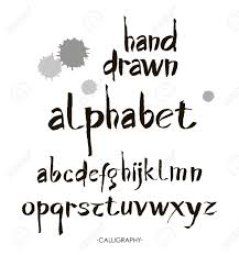 Designs Of Letters Ofthe Alphabet Hand Drawn Alphabet In Retro Style Abc For Your Design Letters