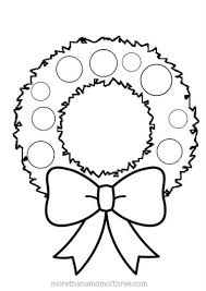 Christmas Wreath Coloring Page Part 7 Free Resource For Teaching
