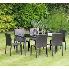 rattan patio set resin wicker patio furniture black wicker dining chairs black glass dining