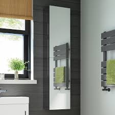 1300 x 300 Tall Stainless Steel Bathroom Mirror Cabinet Double