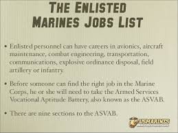 Vocational Careers List U S Marines Careers Learning How You Can Serve