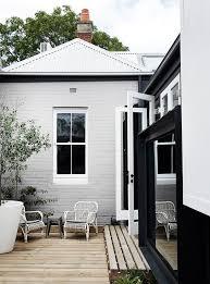 Gray And White Exterior House Concept Interior