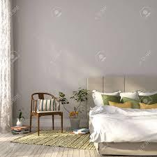Schönes Schlafzimmer In Beige Und Grün Einrichtung Die Auf Die