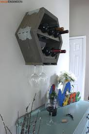 hex wine storage plans rogue engineer 4 diy closet rack