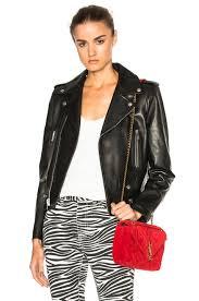 image 1 of saint lau classic motorcycle jacket in black