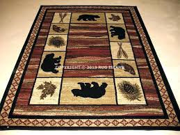 rustic cabin area rugs lodge style